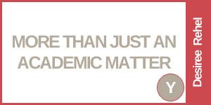 Moer Than Just An Academic Matter