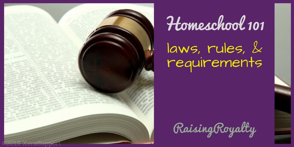 homeschool 101 laws title